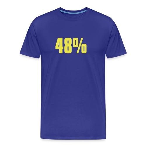 48% - Men's Premium T-Shirt