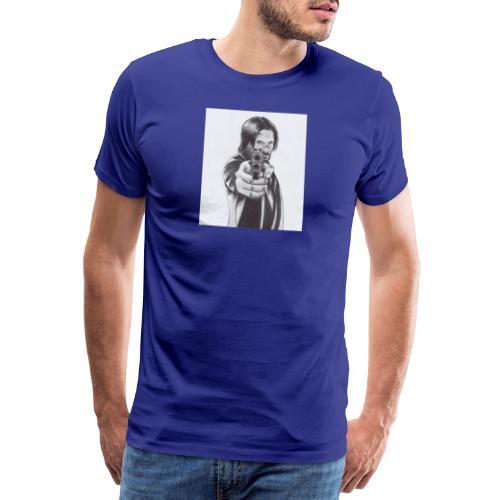 John wick pencil drawing 2019 - T-shirt Premium Homme