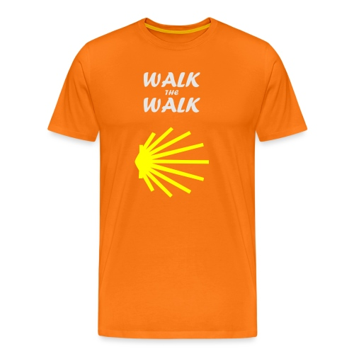 Walk the Walk - Camino de Santiago - Herre premium T-shirt