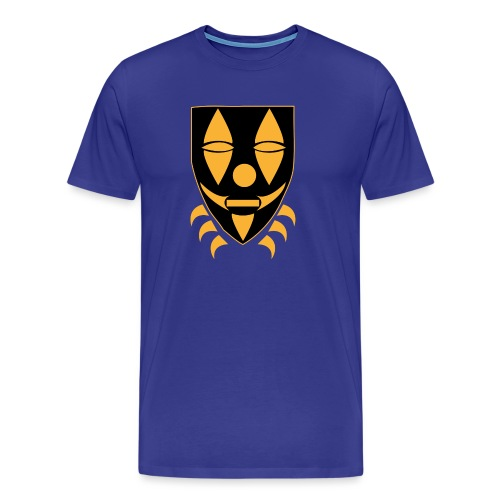 Mask only gold n black png - Mannen Premium T-shirt
