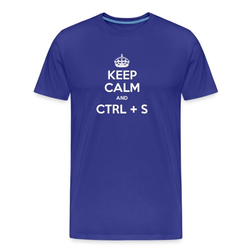 Keep Calm and CTRL+S - T-shirt Premium Homme