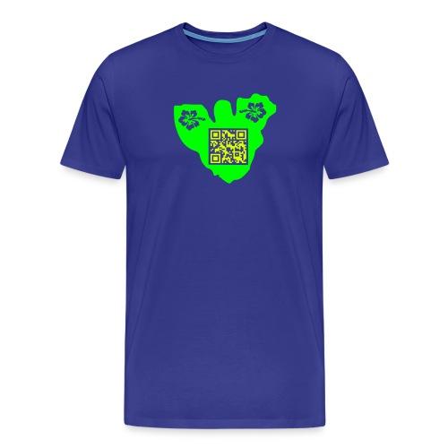 moorea tf3d hibiscus qrcode - T-shirt Premium Homme