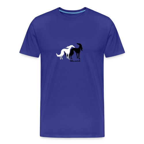 salukis couple txt - T-shirt Premium Homme