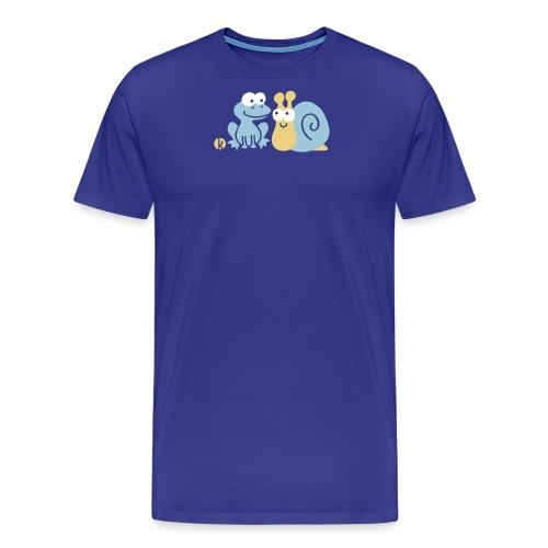 Frosch und Schnecke (c2) Freundschaft - Männer Premium T-Shirt