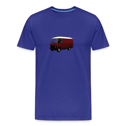 508 bordeaux witdak driekwart - Mannen Premium T-shirt