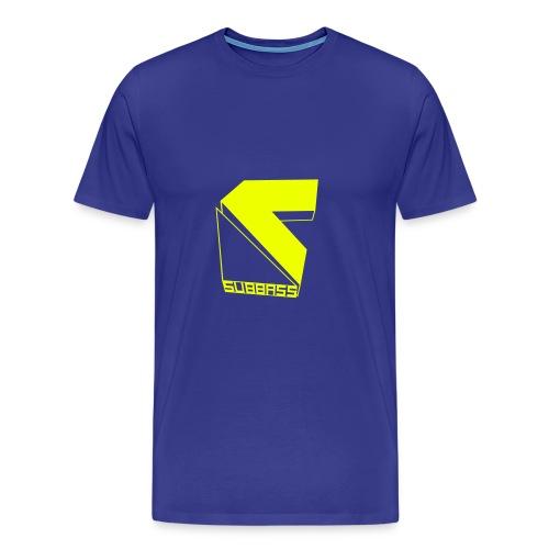 SUBBASS DUBSTEP LABEL LOGO - Männer Premium T-Shirt