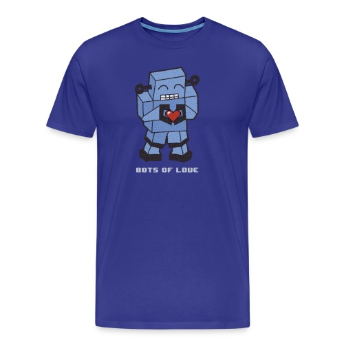 Bots of love grunge - Men's Premium T-Shirt