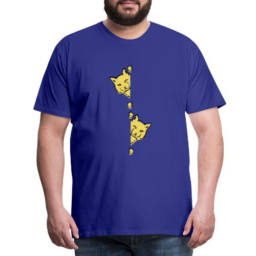 Två gula katter - Premium-T-shirt herr