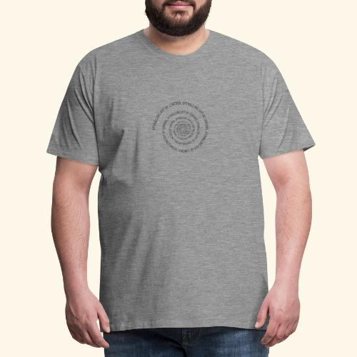 SPIRAL TEXT LOGO BLACK IMPRINT - Men's Premium T-Shirt