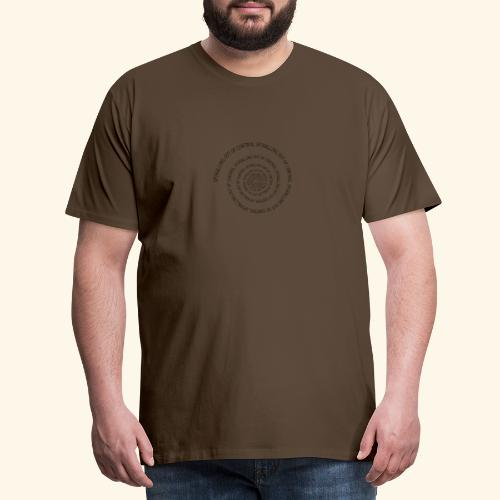 SPIRAL TEXT LOGO BLACK IMPRINT - Men's Premium T-Shirt