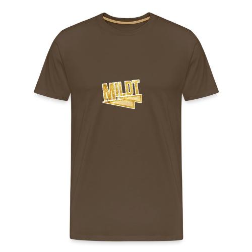 MILDT Gouden Mannen Shirt - Mannen Premium T-shirt