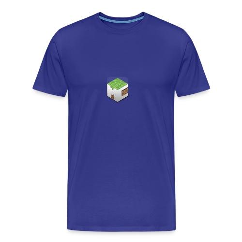 MineCraft 3D - Mannen Premium T-shirt