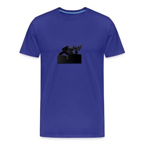 Estatua del Minero Laciana - Camiseta premium hombre