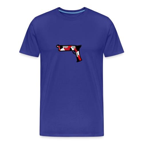 strijdR T-shirt pistol black - Mannen Premium T-shirt