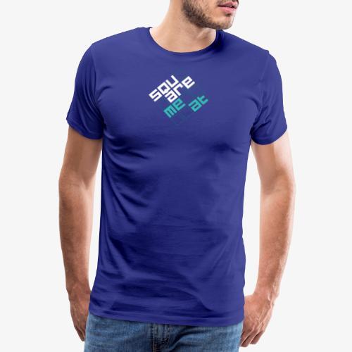 Squaremeat Cyan - Men's Premium T-Shirt