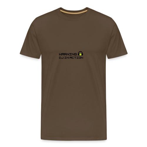 Warning DJ in Action - Mannen Premium T-shirt
