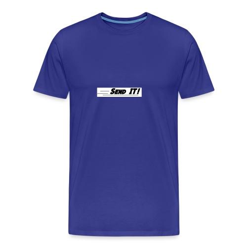 send it logo white - Men's Premium T-Shirt