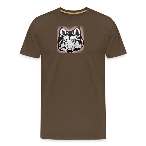 Wolfie (Red) - Men's Premium T-Shirt