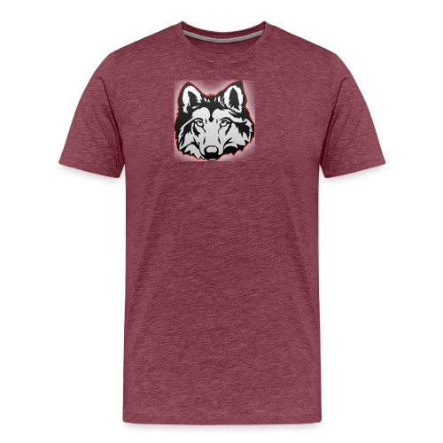 Wolfie (Red) - Men's Premium T-Shirt