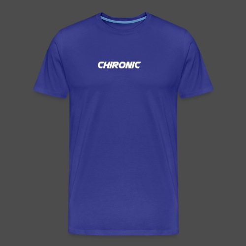 Chironic Text White - Mannen Premium T-shirt