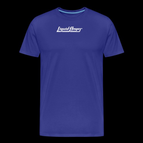 LIQUID ANGER LOGO 2017 WHITE - Premium-T-shirt herr
