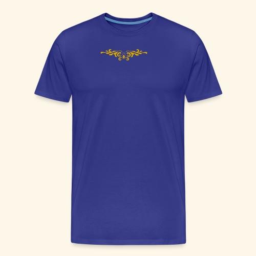 Ilustraccion de un diseño dorado - Camiseta premium hombre