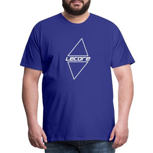 Lecore logo Vector black alt2 - Premium T-skjorte for menn