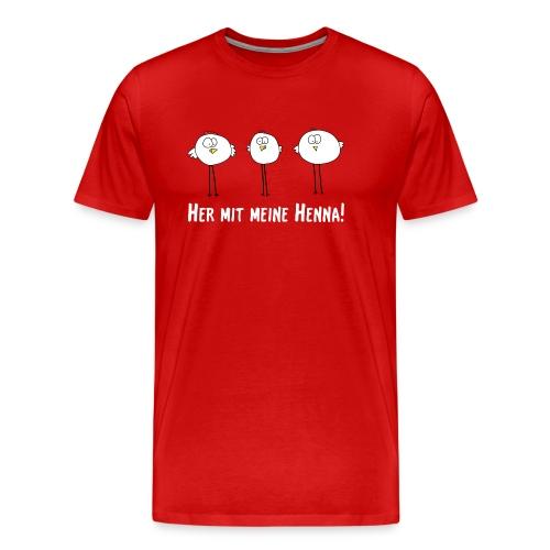 her mit meine henna png - Männer Premium T-Shirt