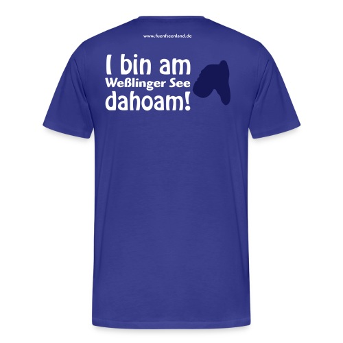 WES dahoam vektor - Männer Premium T-Shirt