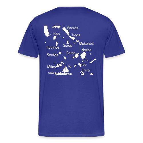 Kykladen Griechenland Crewshirt - Männer Premium T-Shirt