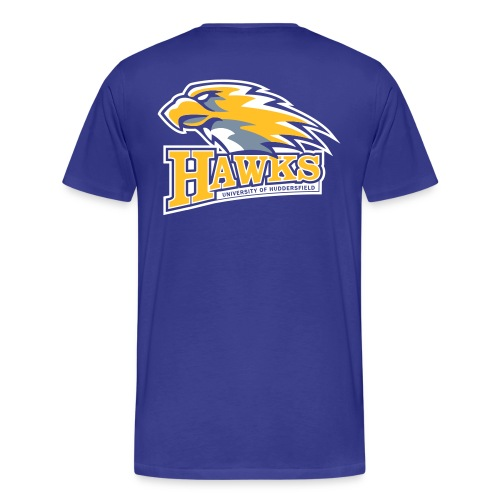 hawks main logo on blue - Men's Premium T-Shirt