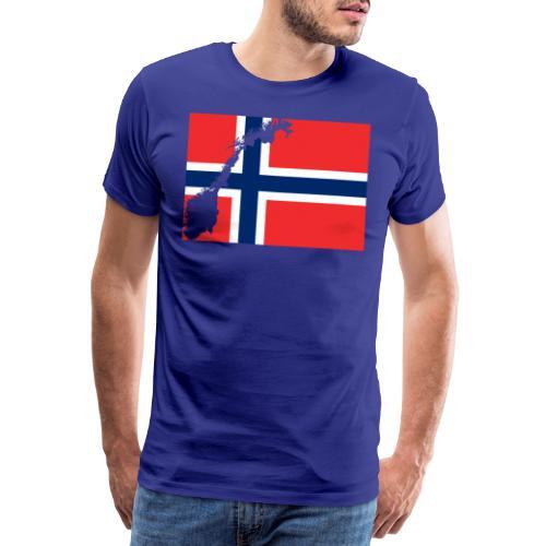 Norges Flagg - Männer Premium T-Shirt