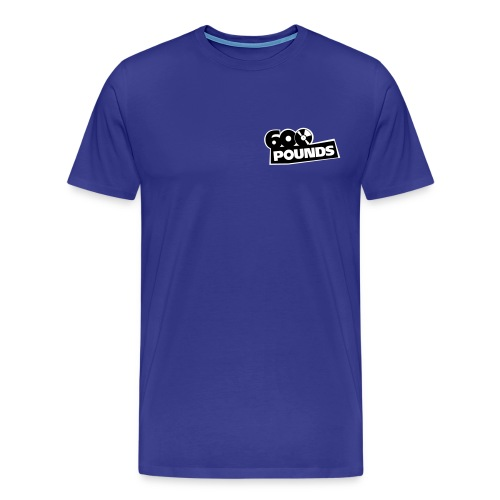 600 Pounds BW klein - Männer Premium T-Shirt