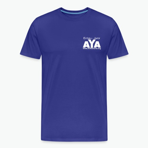 aya_einbau_juror vorne we - Männer Premium T-Shirt