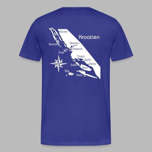 Kroatien Zadar bis Hvar - Männer Premium T-Shirt