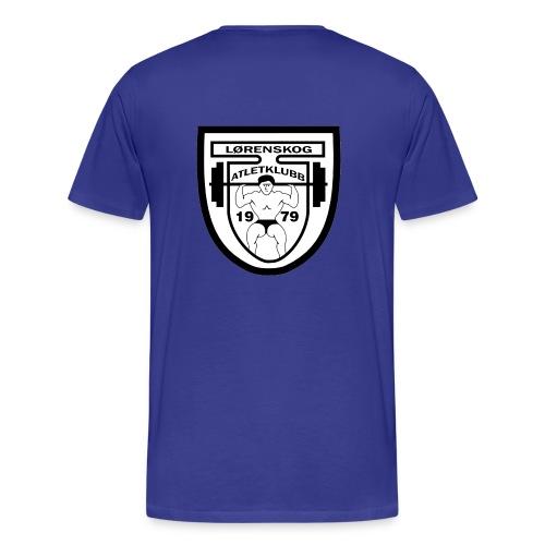 lrenskog atletklubb logo3 - Premium T-skjorte for menn