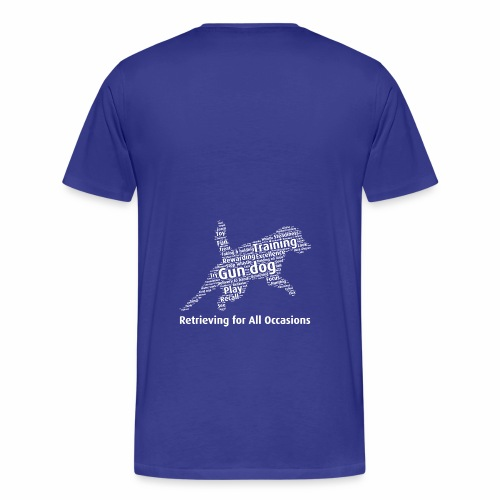 Retrieving for All Occasions wordcloud vitt - Premium-T-shirt herr