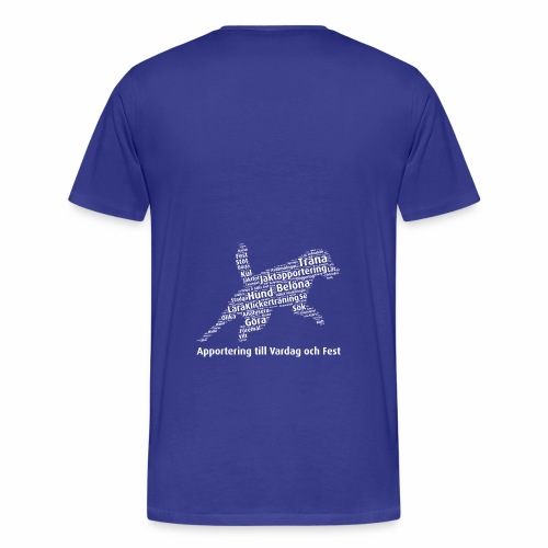 Apportering till vardag och fest wordcloud vitt - Premium-T-shirt herr
