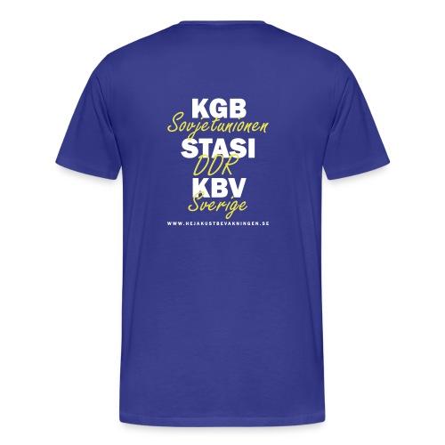 KGB STASI KBV - Premium-T-shirt herr