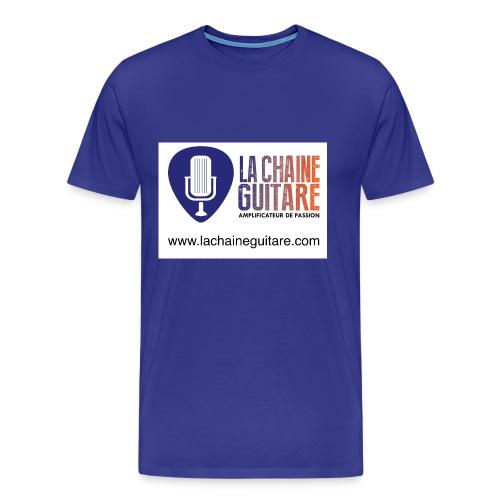 Logo FR bleu orange URL png - T-shirt Premium Homme
