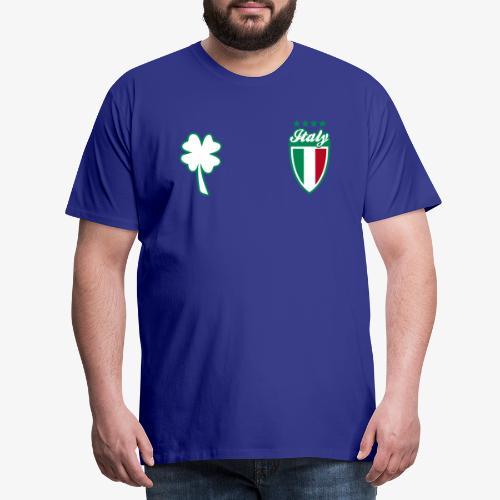 Italia Scudo e trifoglio - Maglietta Premium da uomo