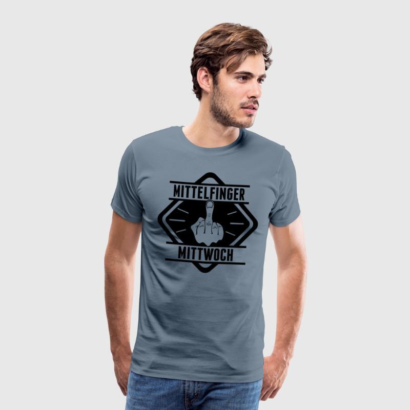 Mittelfinger Mittwoch - Männer Premium T-Shirt