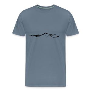 Falknis Bergkette - Männer Premium T-Shirt