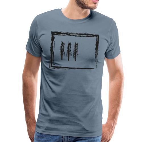 Wegzeichen 3 Min. warten - Kreide - Schwarz - Männer Premium T-Shirt