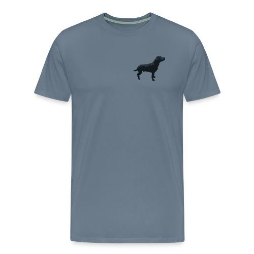 Labrador Hund stehend - ganzes Profil Seite - Männer Premium T-Shirt
