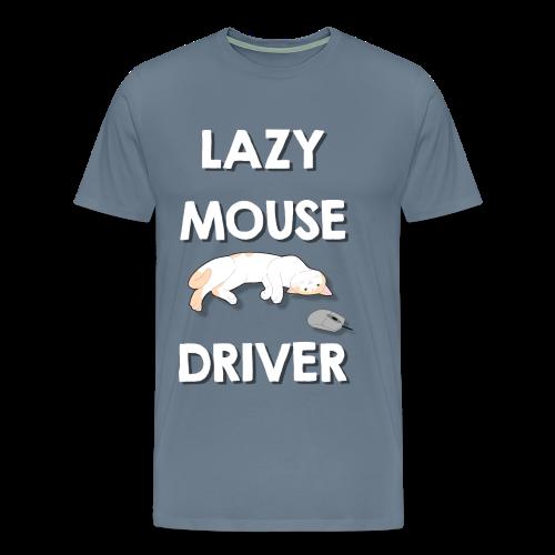 Faule Maustreiber Computer Nerd Informatik Katze - Männer Premium T-Shirt