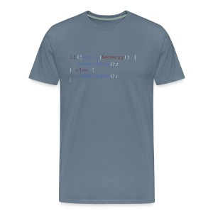 Coding Energie Check - Männer Premium T-Shirt