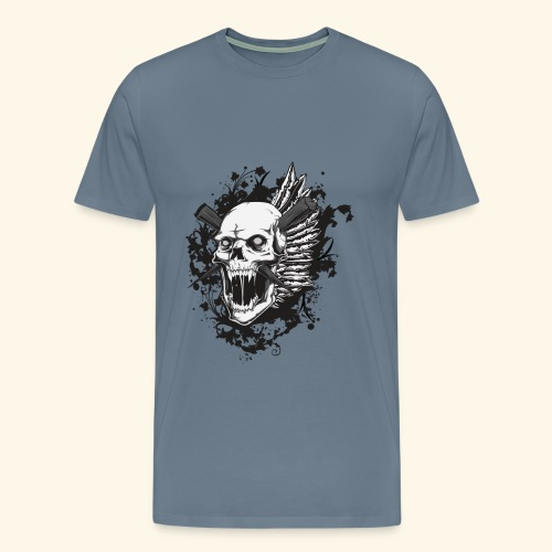 Suffering Skull - Men's Premium T-Shirt