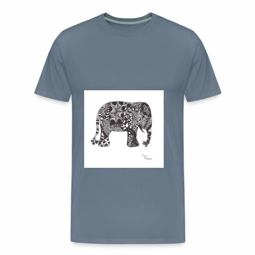 tangle-elephant print - Männer Premium T-Shirt