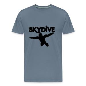 Skydive Silhouette - Männer Premium T-Shirt